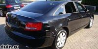 Audi A6 2007 года сзади черный