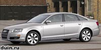 серый сбоку Audi A6 2007 года