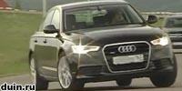 Audi A6 2011 чёрный поворачивает