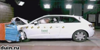 Краш тест Audi A3 по системе EuroNCAP 2012