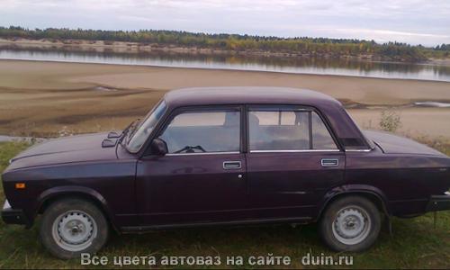 Лада 2107 в цвете Баклажан (код 107) темно-фиолетовый