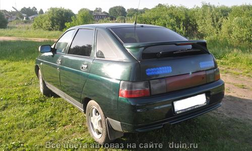 ВАЗ 2112 в цвете Амулет (код 371) серебристо-темно-зеленый