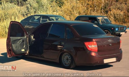 Лада Гранта цвет Портвейн (код 192) темно-вишневый металлик