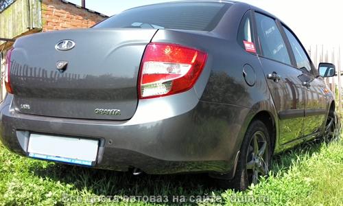 Лада Гранта цвет Борнео 633 темный серебристо-серый