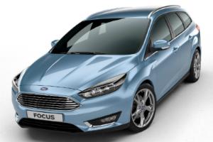 Ford Focus III рестайлинг голубой спереди