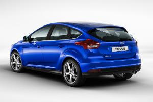 Ford Focus III синий сзади рестайлинг