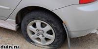 что делать, если пробило колесо