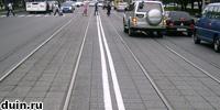 Являются ли трамвайные пути двойной сплошной?