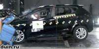 Краш тест Kia Ceed по системе EuroNCAP 2012