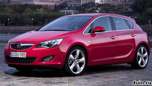 Opel Astra J вид спереди