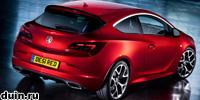 Opel Astra OPC 2012 красный сзади