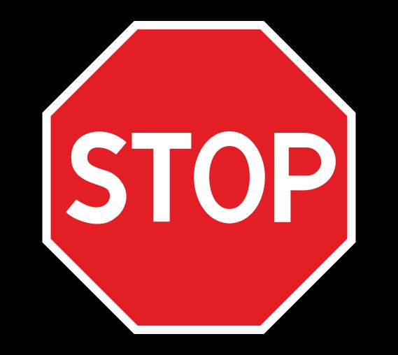Знак 2.5 Движение без остановки запрещено