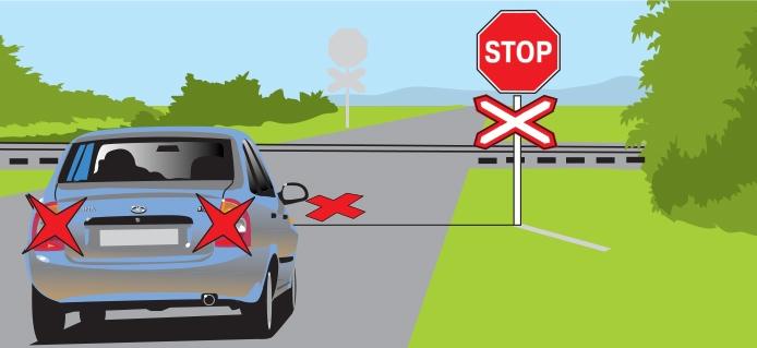 Знак движение запрещено перед жд переездом