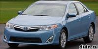 Toyota Camry 2012 года hybrid гибрид голубой спереди