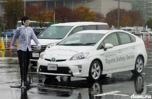 Toyota Safety Sense: обнаружение пешеходов